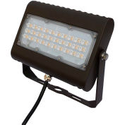 Commercial LED CLF4-505YKBR LED Flood Light, 50W, 6000 Lumens, 5000K, Yoke Mount, Bronze, DLC 4.4