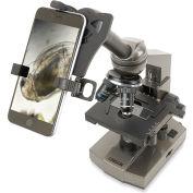 Carson MS-100SP Intermediate 100x-1000x Compound Microscope w/ Smartphone Digiscoping Adapter Bundle