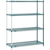 "Nexel® Poly-Green™ Wire Shelving Add-On 48W"" x 12""D x 63""H"