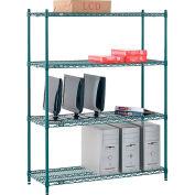 "Nexel® Poly-Green® Wire Shelving Starter, 48W"" x 12""D x 74""H"