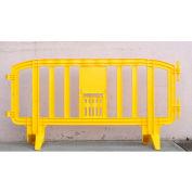 MOVIT® Interlocking Plastic Barricade, Yellow, 10 Pack + FREE SHIPPING! - Pkg Qty 10