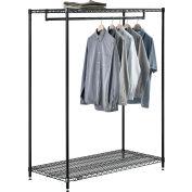 "Free Standing Clothes Rack - 2 Shelf - 48""W x 24""D x 63""H"