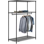 "Free Standing Clothes Rack - 3 Shelf - 48""W x 24""D x 74""H"
