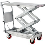 Global Industrial™ Stainless Steel Mobile Scissor Lift Table 35 x 20 - 800 Lb. Cap.