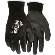 MCR Safety 9669L Economy PU Coated Work Gloves, 13-Gauge, Black, Large, 12 Pairs
