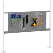 """Panel Kit for 48""""W Workbench with 36""""W Pegboard, Mounting Rail -Gray"""