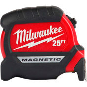 "Milwaukee 48-22-0325 1"" x 25' Compact Wide Blade Magnetic Tape Measure"