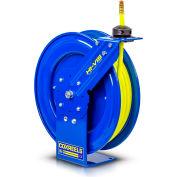 "Coxreels SH-N-375-HV 3/8"" x 75' 300PSI Hi-Vis Heavy Duty Spring Retractable Low Pressure Hose Reel"