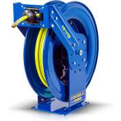 "Coxreels TSH-N-475-HV 1/2""x75' 300PSI Hi-Vis Supreme Duty Spring Retractable Low Pressure Hose Reel"