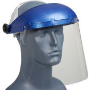 Sellstrom® S39010 Single Crown Face Shield, Chemical/Scratch Resistant, Pin-Lock Headgear