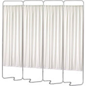 Omnimed® Privacy Screen, Beamatic™ Screen Frame, 4 Sections with White Panels