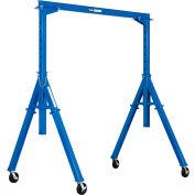 "Global Industrial™ Adjustable Height Steel Gantry Crane, 9'10""W x 7'6""-12'H, 6000 Lb. Capacity"