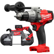 "Milwaukee® M18 FUEL™ 2729-21 Deep Cut Band Saw Kit W/FREE 2804-20 1/2"" Hammer Drill"