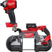 "Milwaukee® FUEL™ 2729-21 Deep Cut Band Saw Kit W/FREE 1/4"" Hex Impact Driver (Bare Tool)"