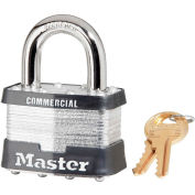 "Master Lock® No. 5KA Keyed Padlock - 1"" Shackle - Keyed Alike (Drop Ship) - Pkg Qty 6"