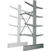 """Global Industrial™ Double Sided MD Add-On Cantilever Rack Unit, 48""""W x 60""""D x 8'H, With Lip"""