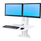 Ergotron® WorkFit-SR Dual Monitor Standing Desk Workstation, White