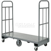 "Global Industrial™ Steel Deck Narrow Aisle U-Boat Platform Truck 60""x16"", 1500 Lb. Cap."