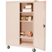 Sandusky Mobile Storage Cabinet TA3R462460- 46x24x66, Sand