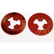 "3M™ Disc Pad Face Plate Ribbed 28443, 4-1/2"" Extra Hard Red - Pkg Qty 10"
