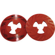 "3M™ Disc Pad Face Plate Ribbed 81732, 5"" Extra Hard Red - Pkg Qty 10"