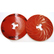 "3M™ Disc Pad Face Plate Ribbed 81728, 9"" Extra Hard Red - Pkg Qty 10"