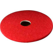 "3M™ 18"" Buffing Pad, Red, 5 Per Case"