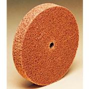 "3M™ Scotch-Brite™ Cut and Polish Unitized Wheel CP-UW 6"" x 1/2"" x 1/8"" Alum. Oxide MED - Pkg Qty 8"
