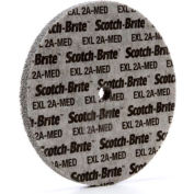 "3M™ Scotch-Brite™ EXL Unitized Wheel 6"" x 1/2"" x 1/2"" Aluminum Oxide 2A MED"