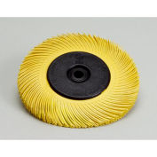 "3M™ Scotch-Brite™ Radial Bristle Brush 7-5/8"" x 1"" x 1 1/4"" with Flange Ceramic 80 Grit - Pkg Qty 2"