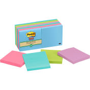 Post-it® Super Sticky Recycled Notes 654-12SST, 3 in x 3 in Assorted Tropical 12 Pads