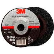 "3M High Performance Depressed Center Grinding Wheel - T27 - Quick Change - 5"" x 1/4"" x 5/8-11"" - Pkg Qty 20"