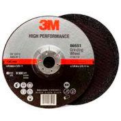 "3M™ High Performance Depressed Center Grinding Wheel T27 Quick Change 7""x1/4""x5/8-11"" Case - Pkg Qty 20"