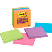 3M™ Post-it® Super Sticky Notes 675-6SSAN, 4 in x 4 in Neon Fusion 90sht/pd