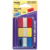 3M™ Post-It® Durable Tabs 686-Ryb, 1 In X 1.5 In Red, Canary Yellow, Blue - Pkg Qty 4
