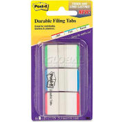 3M™ Post-it® Durable Tabs 686L-GBR, 1 in x 1.5 in Green, Blue, Red, 66 Tabs/Pack - Pkg Qty 4