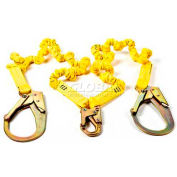 3M® SafeAbsorb Xtra Expandable Energy Absorbing Dual Leg Lanyard with Rebar Hooks, 4-6 Ft.