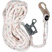 3M® Vertical Rope Lifeline W/Double Locking Snap Hook & Rope Adjuster, 25'