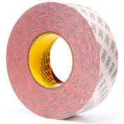 "3M™ 469 Double Coated Tape 2"" x 60 Yds. 5.5 Mil Red - Pkg Qty 16"