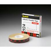 "3M Adhesive Transfer Tape 924 1/2"" x 36 Yds 2 Mil Clear - Pkg Qty 12"