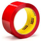 3M Carton Sealing Tape 373 48mm x 50m 2.5 Mil Red - Pkg Qty 36