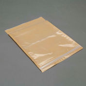 "3M Non-Printed Zip Lock Packing List Envelope PLE-NPZXL 10"" x 12-1/2"" 5 Mil Clear - 500 Pack"