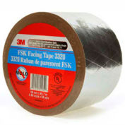"3M™ FSK Facing Tape 3320 Silver, 3-7/8"" x 150', 6.7 Mil - Pkg Qty 12"