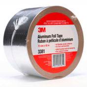 """3M™ Aluminum Foil Tape 3381 Silver, 2-13/16"""" x 150', 2.7 Mil - Pkg Qty 16"""