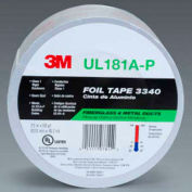 """3M™ Aluminum Foil Tape 3340 Silver, 2-1/2"""" x 150', 4 Mil - Pkg Qty 9"""