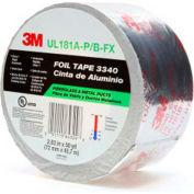 """3M™ Aluminum Foil Tape 3340 Silver, 2-13/16"""" x 150', 4 Mil - Pkg Qty 16"""