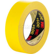 "3M Masking Tape 301+ 0.95""W x 60.15 Yards - Yellow - Pkg Qty 36"