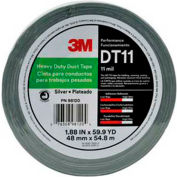 "3M™ Heavy Duty Duct Tape DT11 Silver, 1-7/8"" x 180', 11 Mil - Pkg Qty 24"