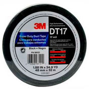 "3M™ Super Duty Duct Tape DT17 Black, 1-7/8"" x 105', 17 Mil - Pkg Qty 24"