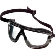 3M™ Gogglegear™ Safety Goggle With Strap & Headband, Clear Lens, Black Frame
